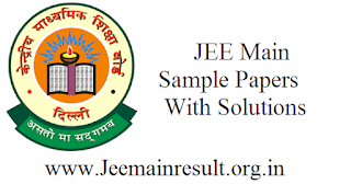 JEE Main Sample Papers With Solutions