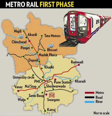 Image result for Pune Metro Rail Project Phase – 1