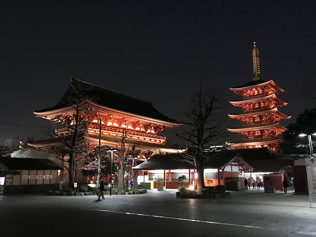 Sensoji at night