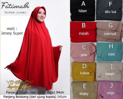 Jilbab Super Jumbo Fatimah laudya hijab