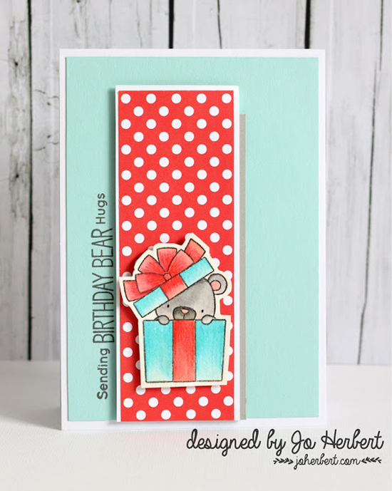 Birdie Brown Birthday Bears stamp set and Die-namics  - Jo Herbert #mftstamps