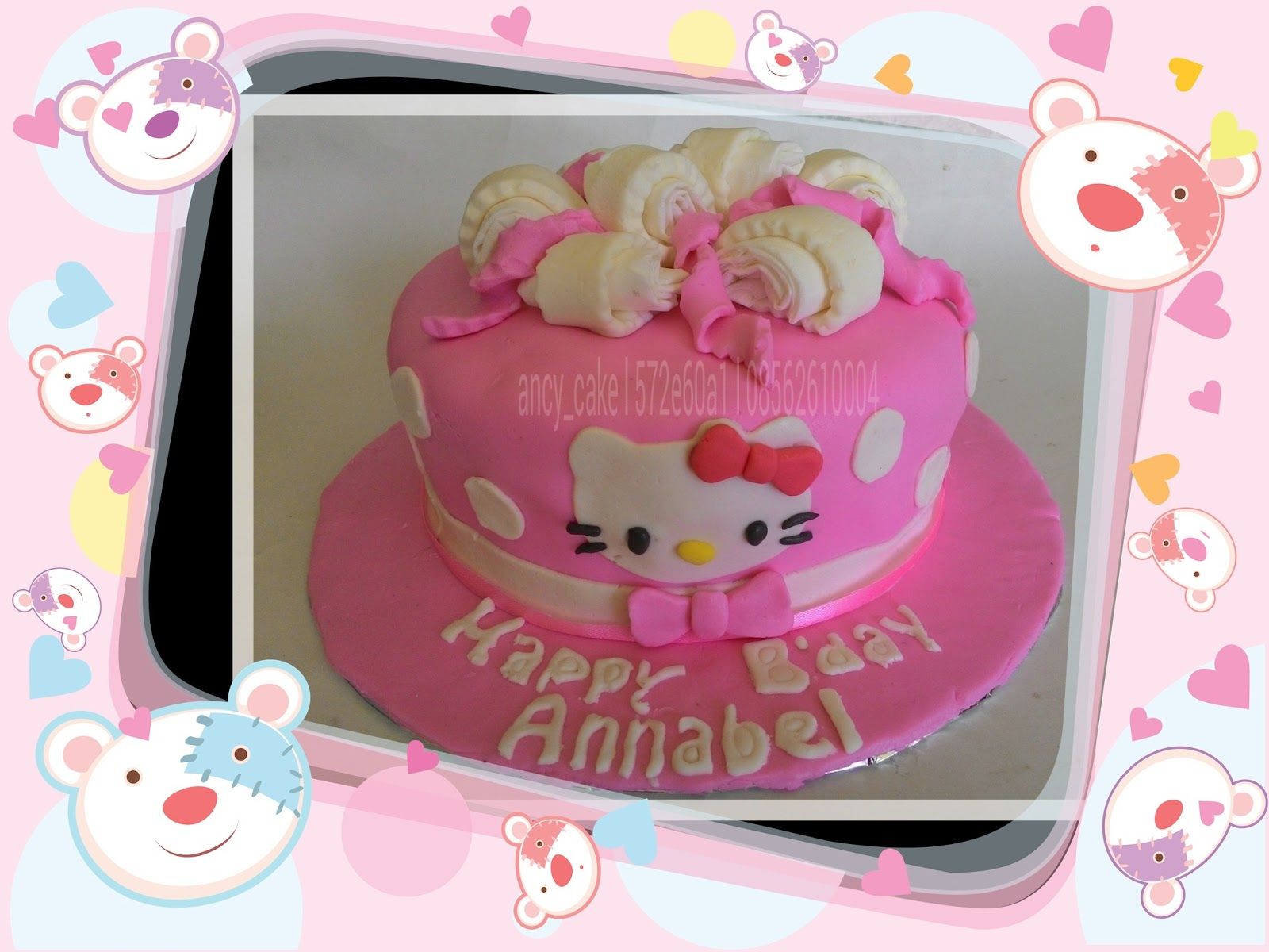 Hello Kitty Cake Ultah Hello Kitty Fondant