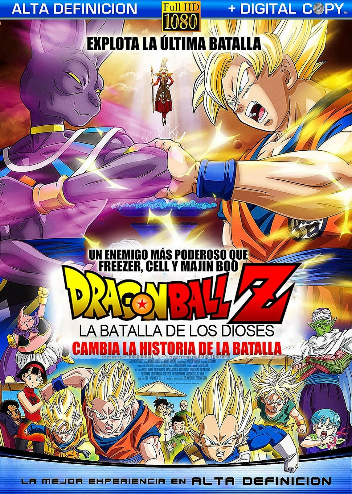 Dragon Ball Z Batalla de los Dioses 1080p Español Latino