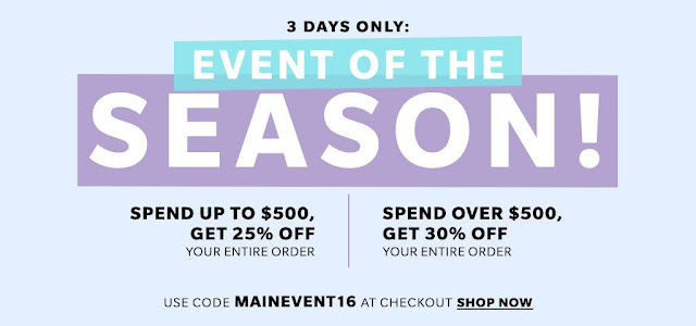 Shopbop Sale Event of the Season 2016
