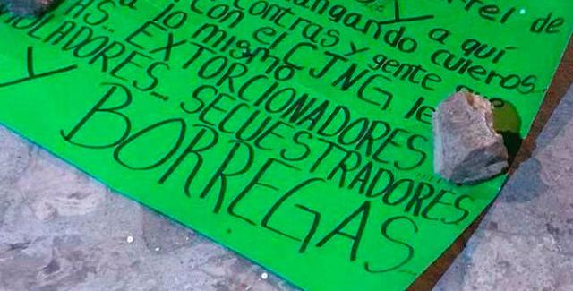 Abandonan cabeza en Guanajuato con mensaje contra el CJNG