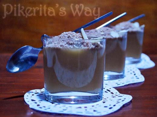 Crema de manzana y kuzu con crujiente de canela