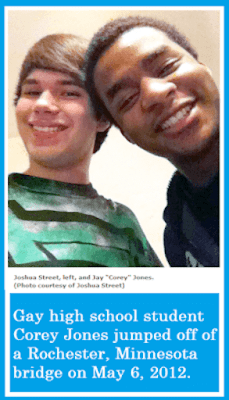 Joshua Street (left) and Corey Jones (right) from Rochester, Minnesota