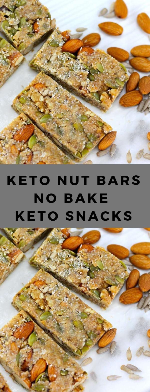 KETO NUT BARS – NO BAKE KETO SNACKS #keto #snack #lowcarb #breakfast