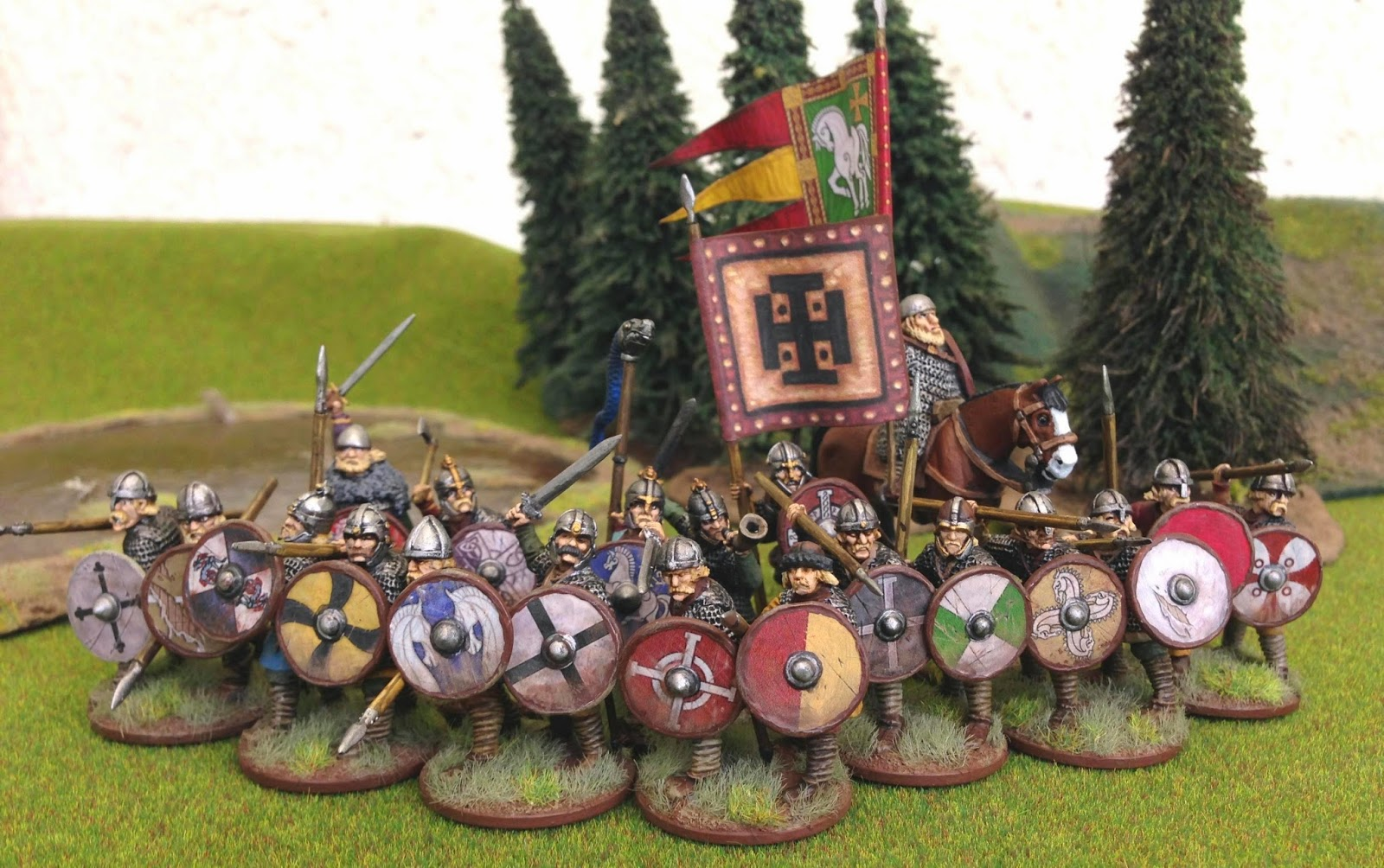 The Gamer S Table Shieldwall Army Banners And King Alfred