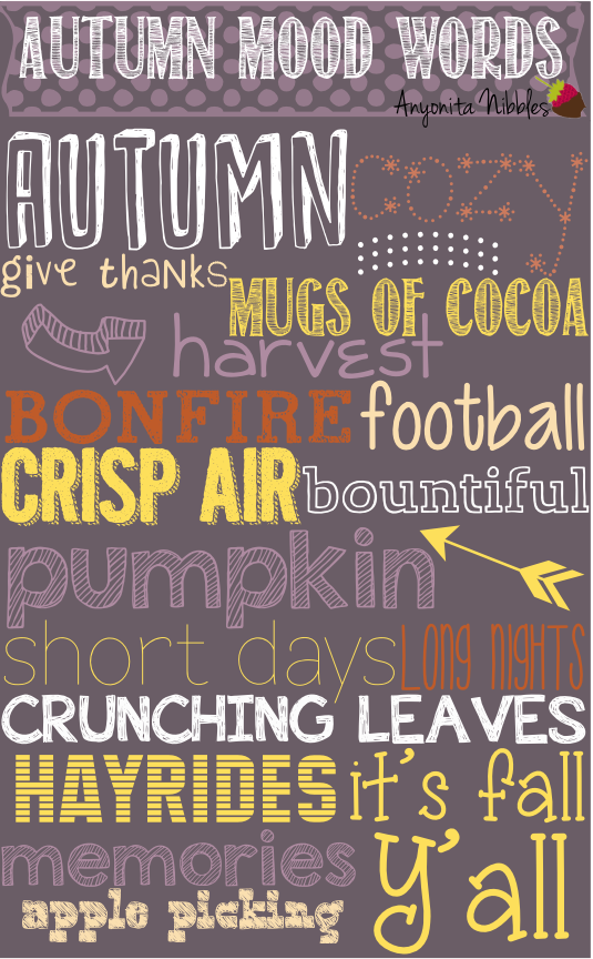 Autumn Mood Words Free Printable from www.anyonita-nibbles.com