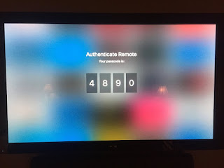 apple tv pairing code screen image