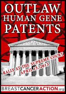 Outlaw Human Gene Patents - Rally at the supreme court - Breast Cancer Action