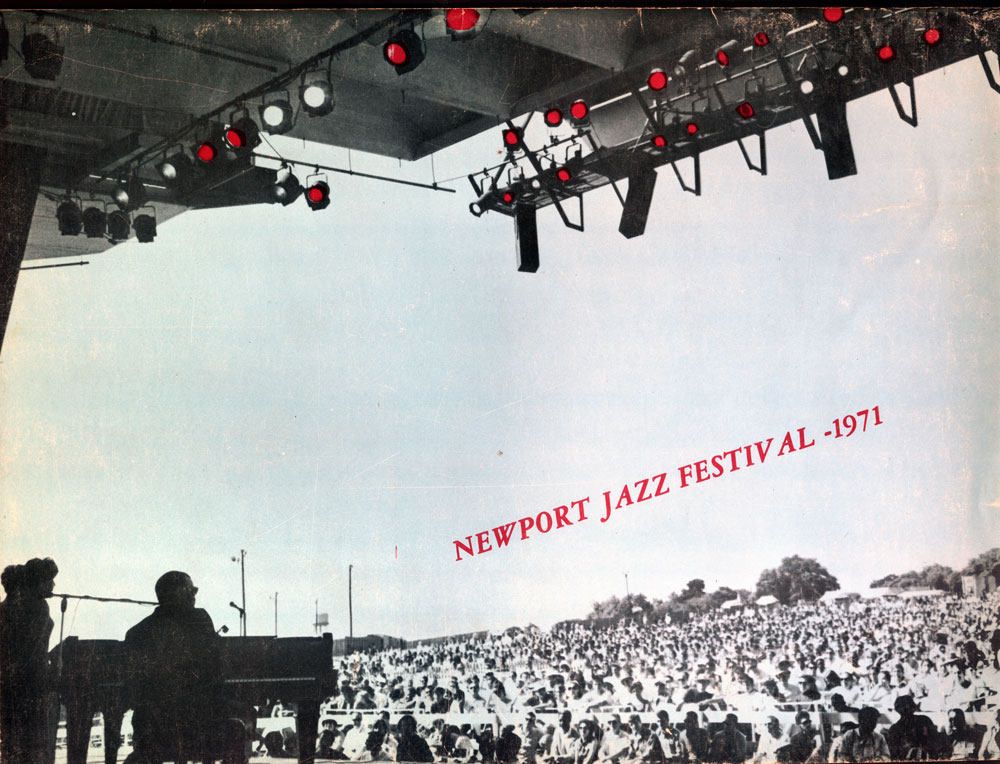 Cover of the Newport Jazz Festival 1971 program brochure, with Ray - concert program