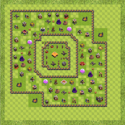 War Base Town Hall Level 9 By sudhil101 (suDL TH 9 Layout)