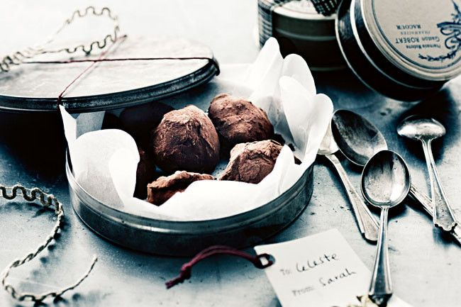 Christmas baking truffles