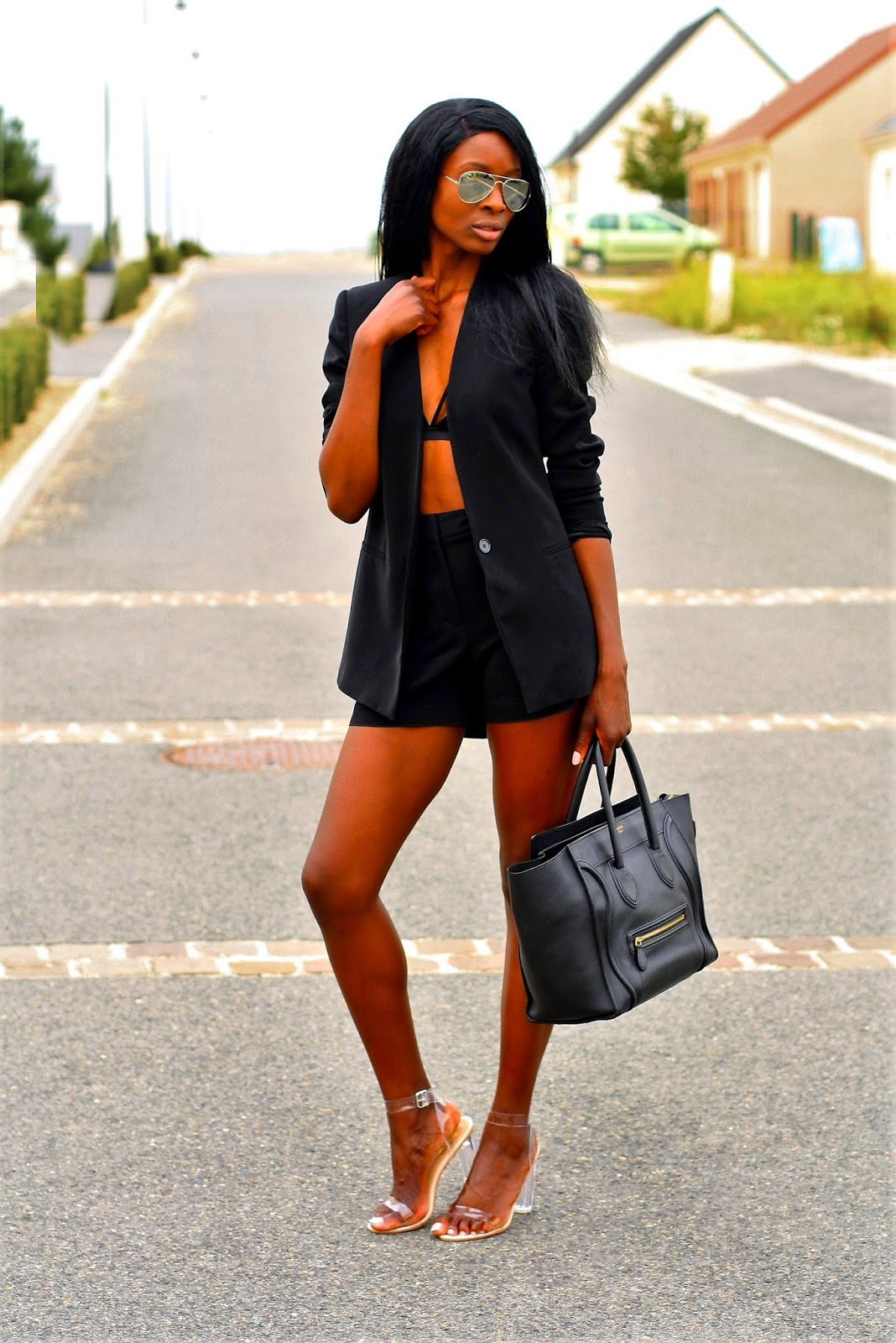 perspex-heels-celine-mini-luggage-highwaist-short-blazer-crop-top-style-blog