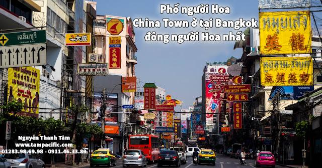 Phố người Hoa ChinaTown ở tại Bangkok tập trung đông người Hoa nhất