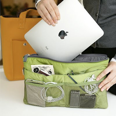 purse organizer that holds an iPad
