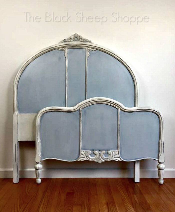 Antique twin bed painted with Chalk Paint