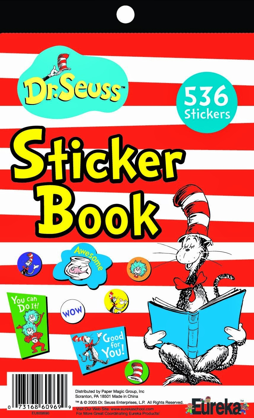 Dr. Seuss Cat in the Hat Stickers for Kids