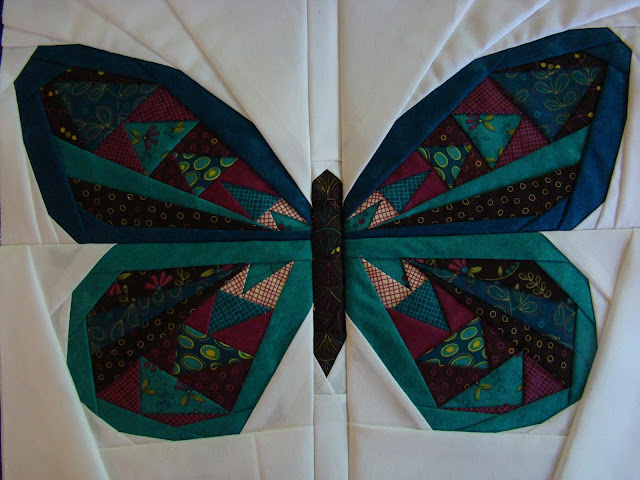 Paper pieced butterfly mini quilt