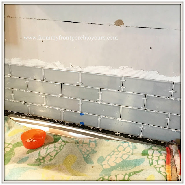 farmhouse kitchen-Subway Tile- DIY-from my front porch to yours