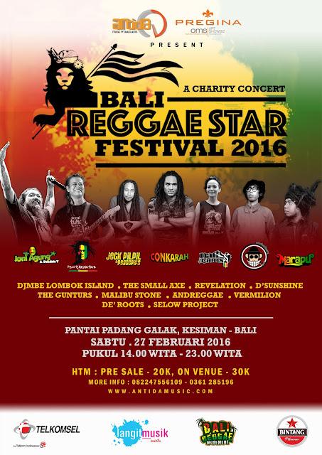 Pamflet Bali Reggae Star Festival 2016