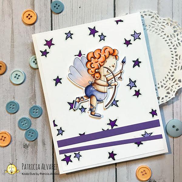 purple valentine's day card