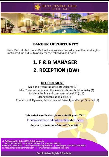 hotelandjobs, loker hotel, hotel vacancy