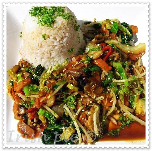 vegetarische asia pfanne kitchen magic k chenzaubereien. Black Bedroom Furniture Sets. Home Design Ideas