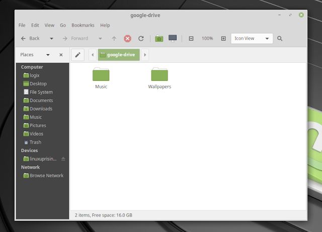 Mounting Google Drive On Xfce Or MATE Desktops (Ubuntu, Linux Mint