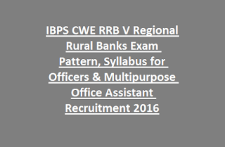 IBPS CWE RRB V Regional Rural Banks Exam Pattern, Syllabus for Officers & Multipurpose Office Assistant Recruitment 2016