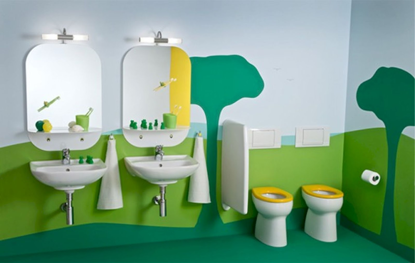 20 playful kids bathroom decor ideas on budget for Bathroom fittings ideas