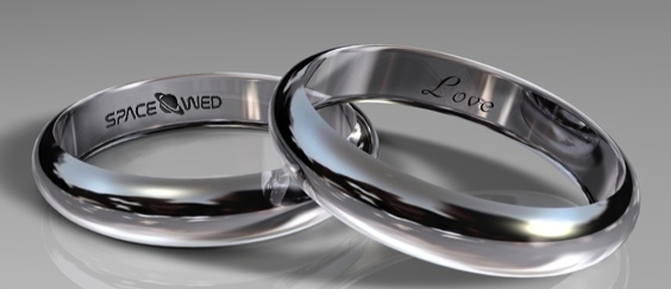 wedding rings sent to space