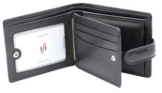 Starhide Mens Soft Luxury Italian Veg Tanned Leather Tri fold Wallet With ID, Credit Card & Coin Pockets