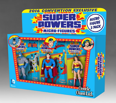 San Diego Comic-Con 2016 Exclusive DC Comics Super Powers Micro Figure 3 Pack by Gentle Giant