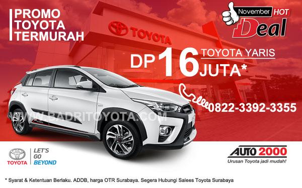 Paket Keren Toyota Yaris DP 16 Juta, Promo Toyota Surabaya
