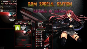 BBM Mod Tema Republic OF Gamers v2.9.0.51 Plus Backup Sticker