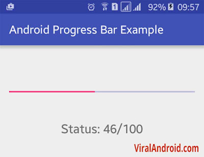 Android Example: How to Create and Show Progress Bar in Android