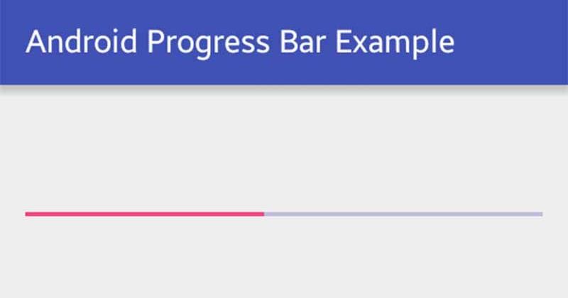 Android Progress Bar Example Viral Android Tutorials