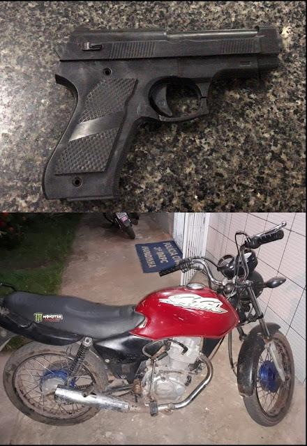 Foragido de Justiça é preso e Chapadinha com arma de brinquedo para prática de assaltos.