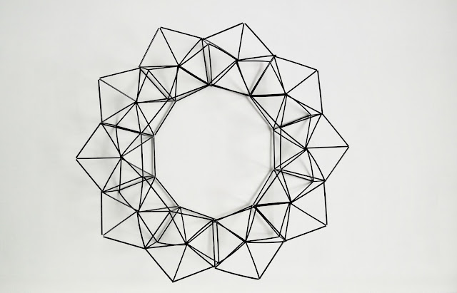 himmeli wreath how to make tutorial modern geometric moderni