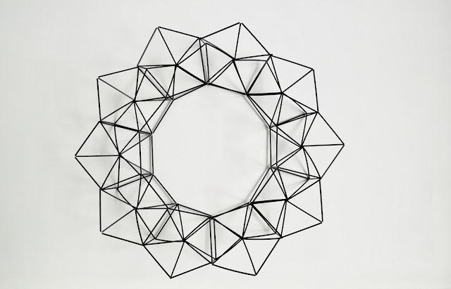 himmeli wreath how to make tutorial modern geometric moderni