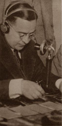 Locutor del Match telefónico Ajedrez Comtal Club - Real Madrid, 25 de mayo de 1935