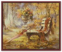 Уютная скамейка
