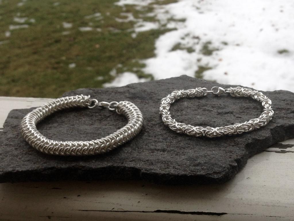 Två länkar i äkta silver. Handgjorda med silvertråd som utgångsmaterial.  Mer info under bilderna nedan. a1662c3217d3b