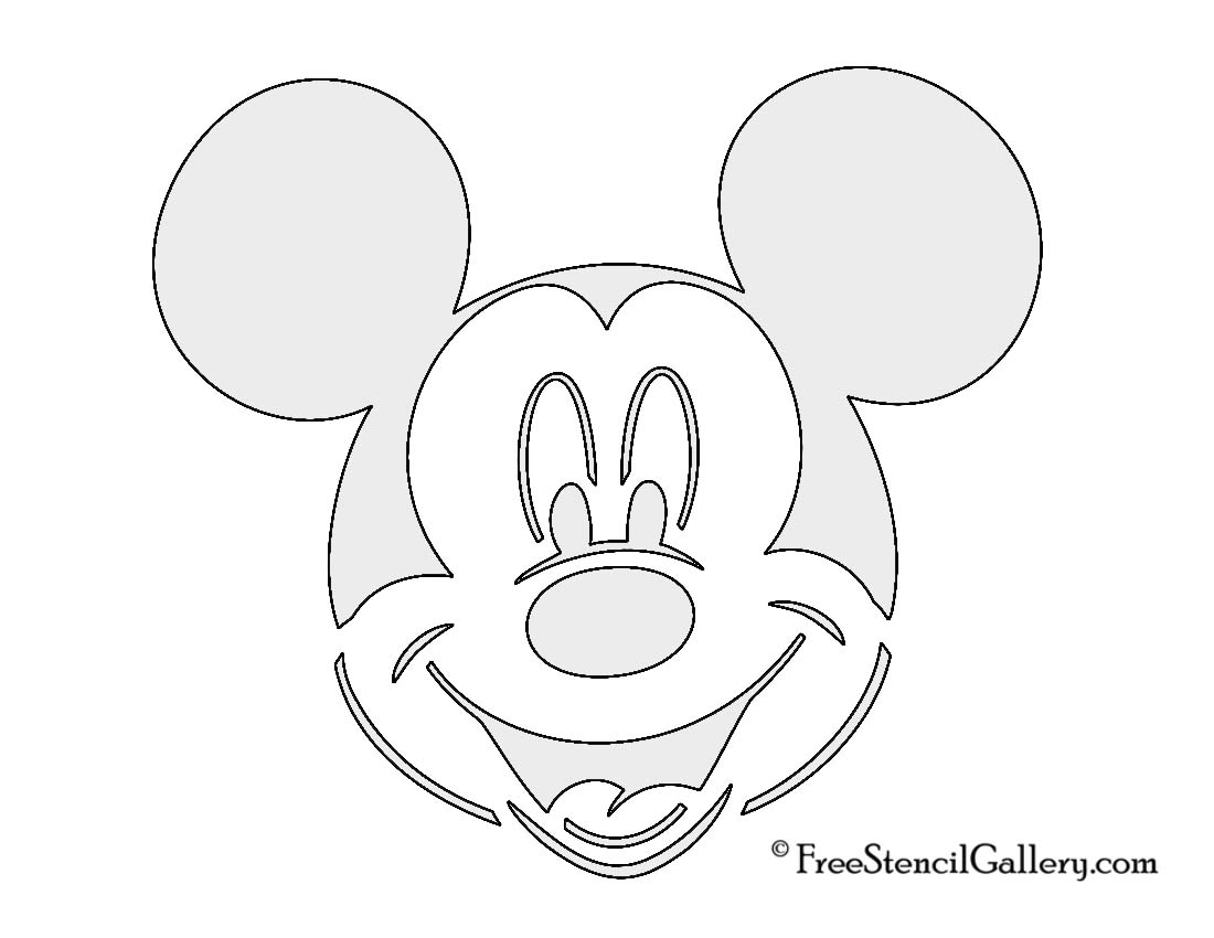Free printable mickey minnie mouse pumpkin carving for Mickey mouse face template for cake