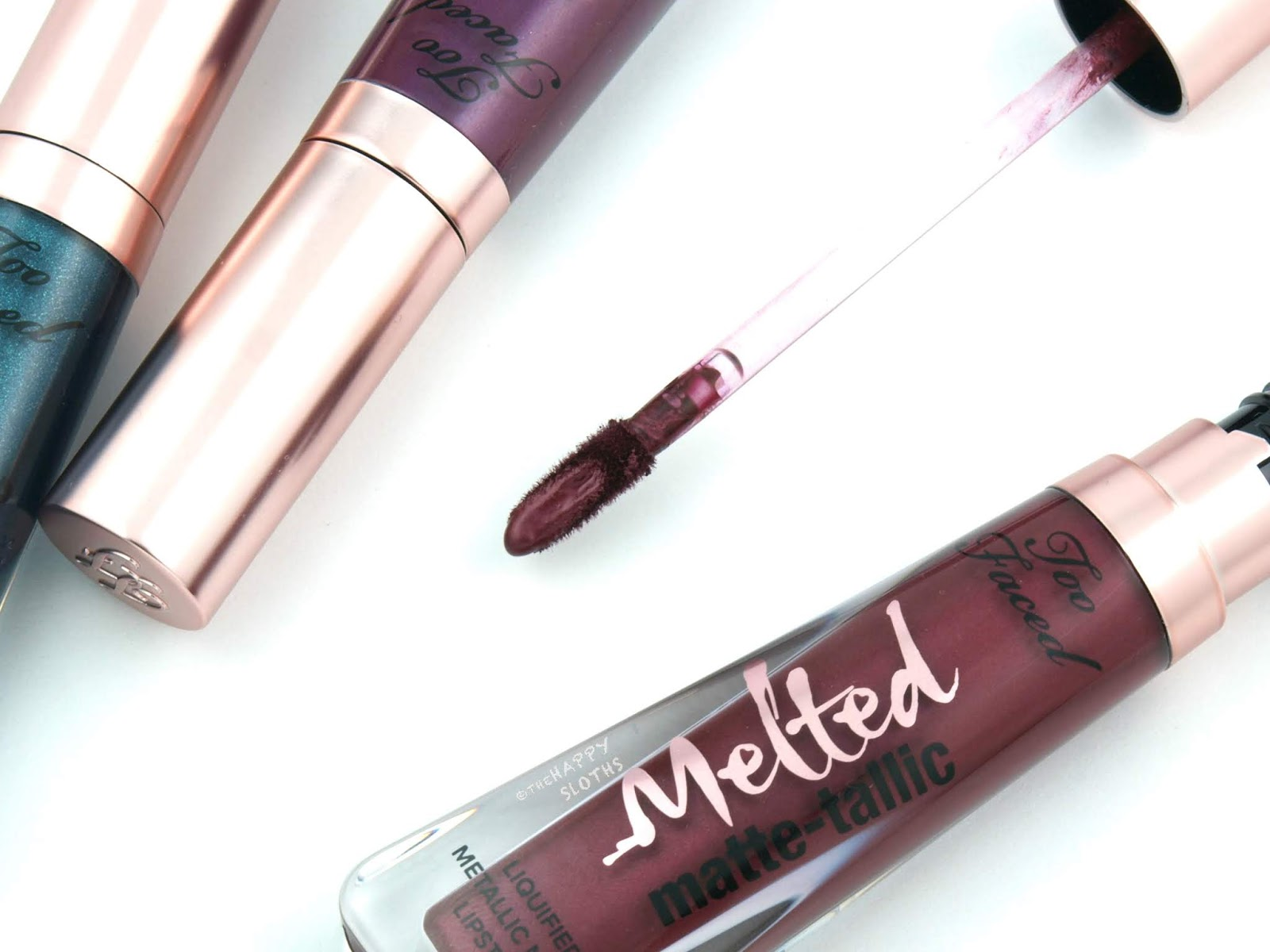 Too Faced | Melted Matte-tallic Liquified Metallic Matte Lipstick: Review and Swatches