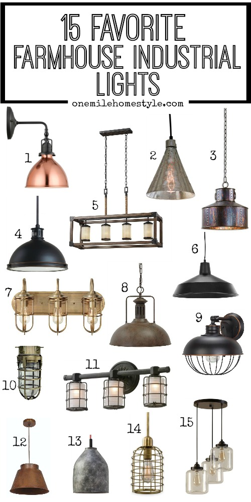 15 Favorite Farmhouse Industrial Light Fixtures