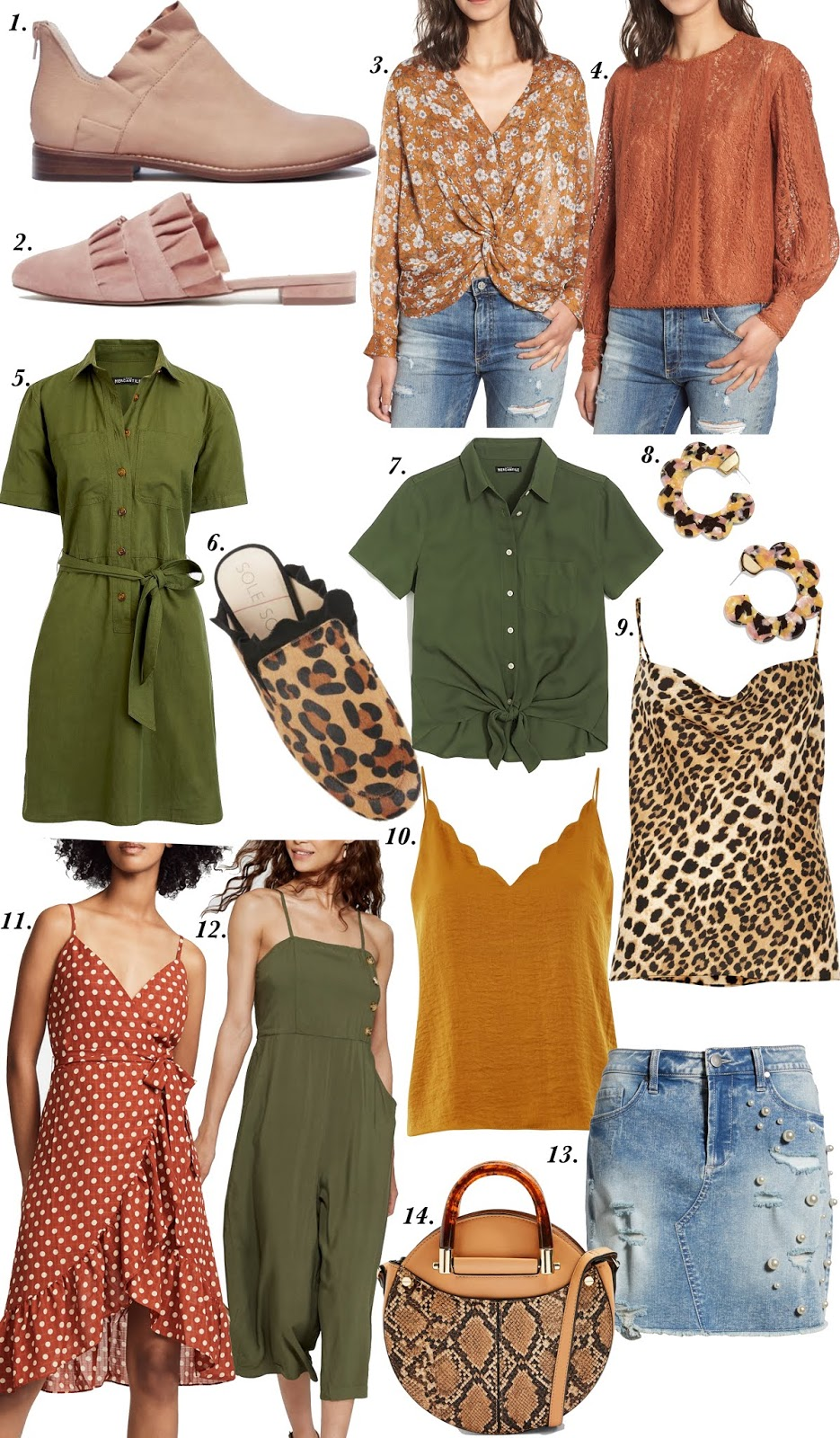Pre-Fall Favorites: Ruffles, Leopard, Olive Green & More - All Under $100! - Something Delightful Blog @racheltimmerman